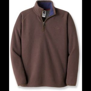 North face men's brown pullover